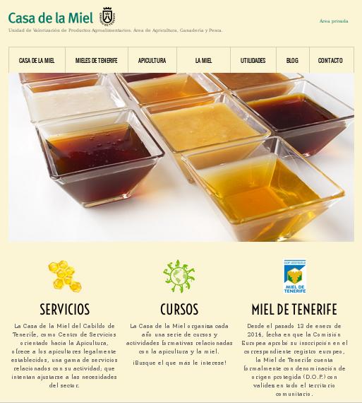 Desarrollo de páginas web: Casa de la Miel de Tenerife